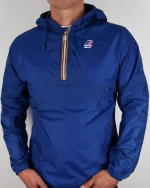 K-way Leon Half Zip Rainproof Jacket Royal Blue