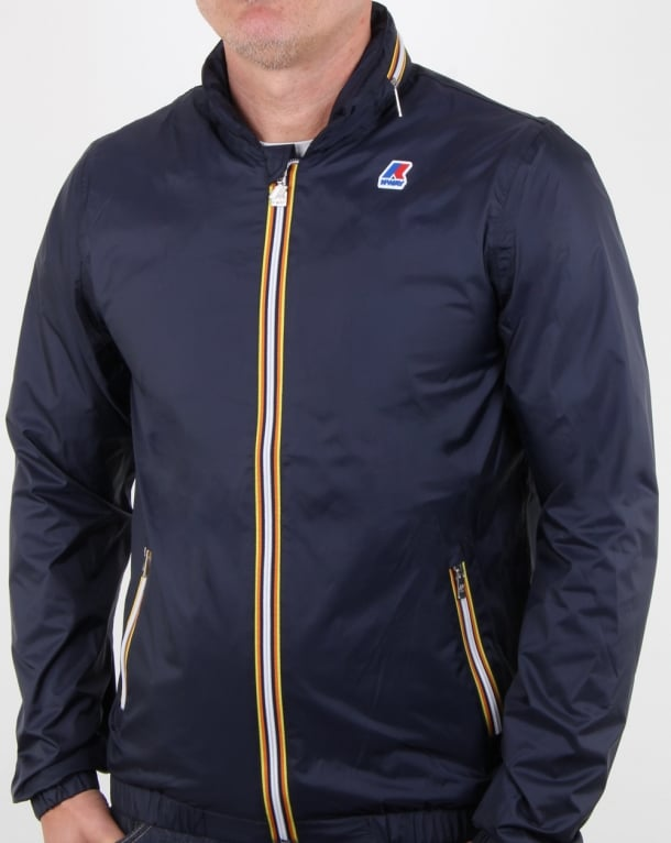 K-way Phillippe Nylon Jacket Blue Depth
