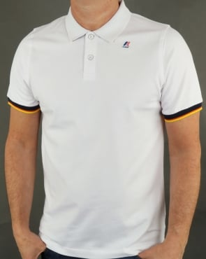 K-way Vincent Contrast Polo Shirt White