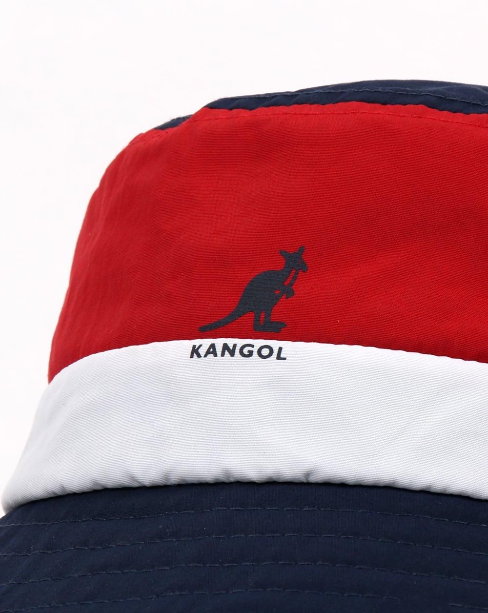 b7d6ef260bd7e Kangol Bold Stripe Bucket Hat Navy