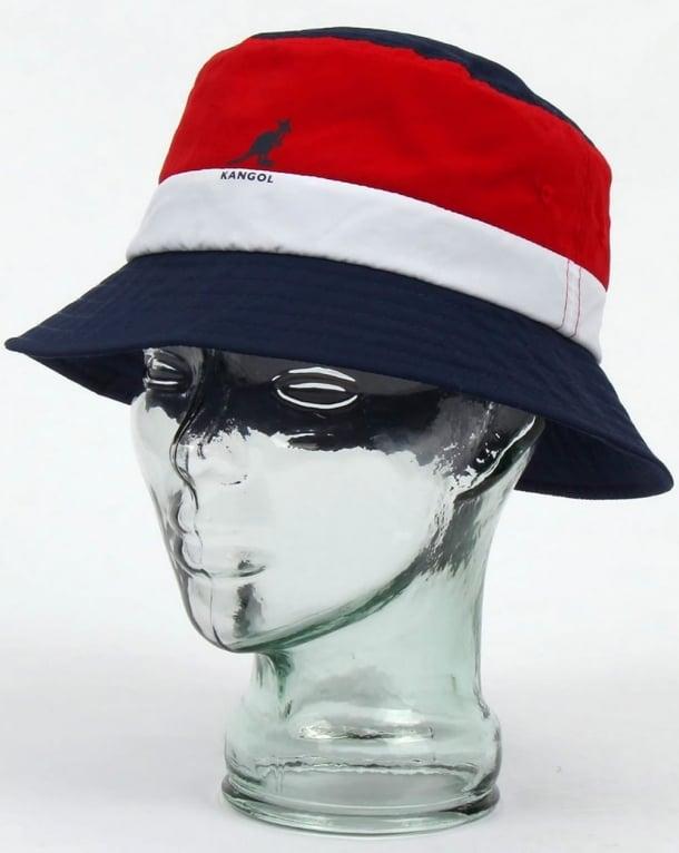 Kangol Bold Stripe Bucket Hat Navy