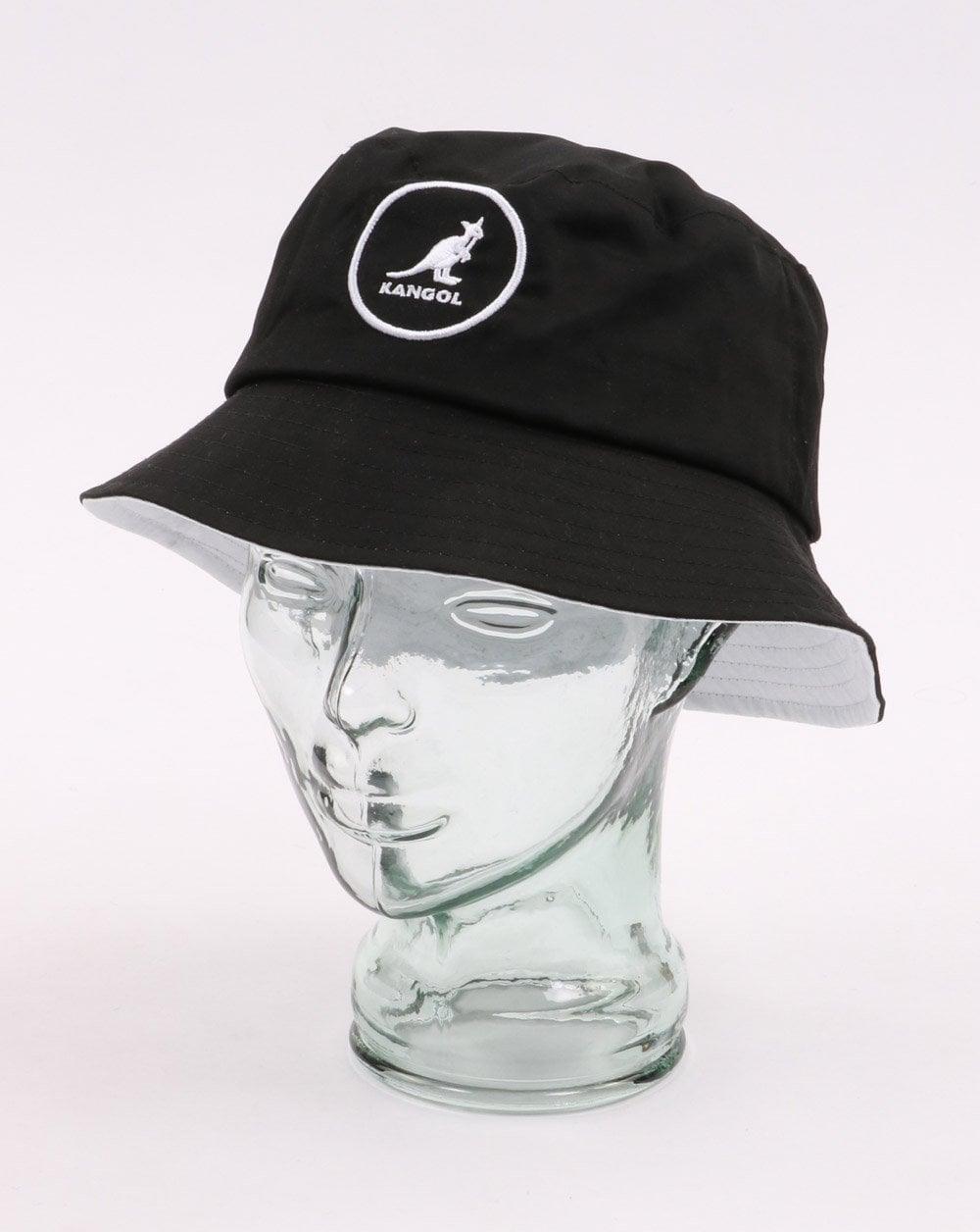 319a75b0bbc4bb Kangol Cotton Bucket Hat Black | 80s Casual Classics