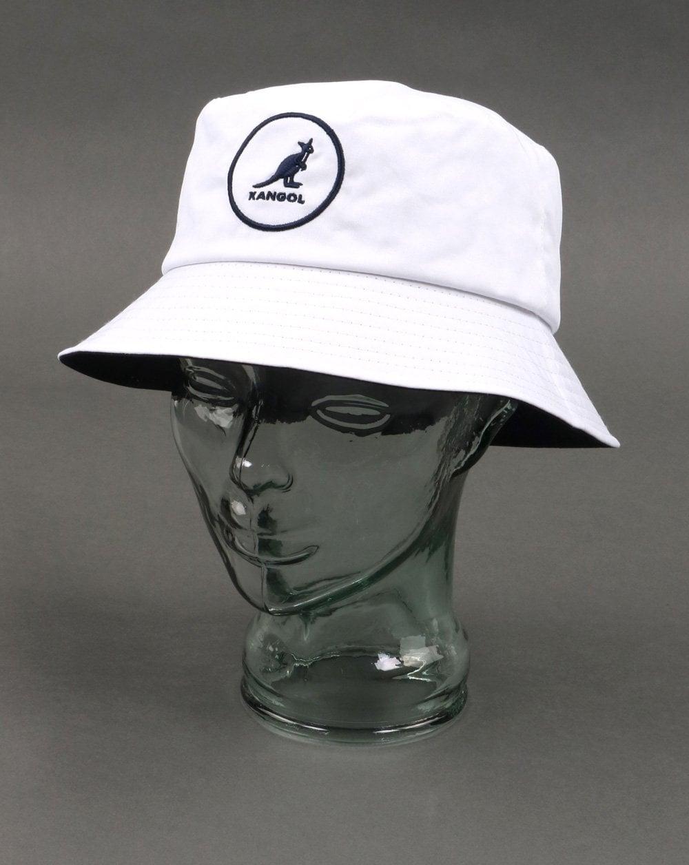 aa1917a6b04 Kangol Kangol Cotton Bucket Hat White