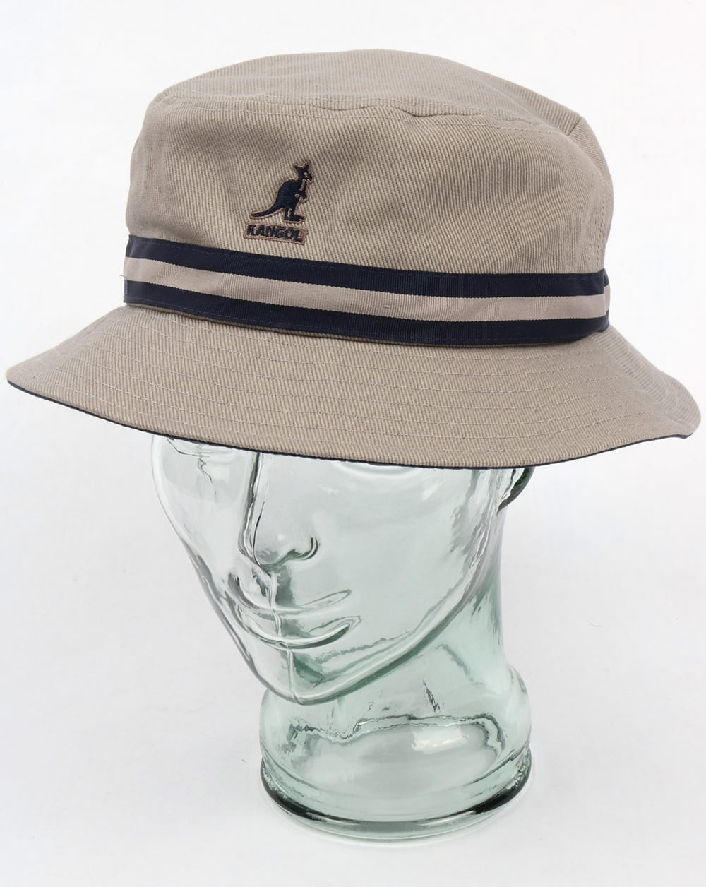 67cf9f9aeda Kangol Kangol Stripe Lahinch Bucket Hat Grey
