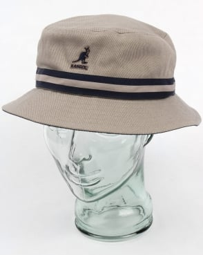 Kangol Stripe Lahinch Bucket Hat Grey