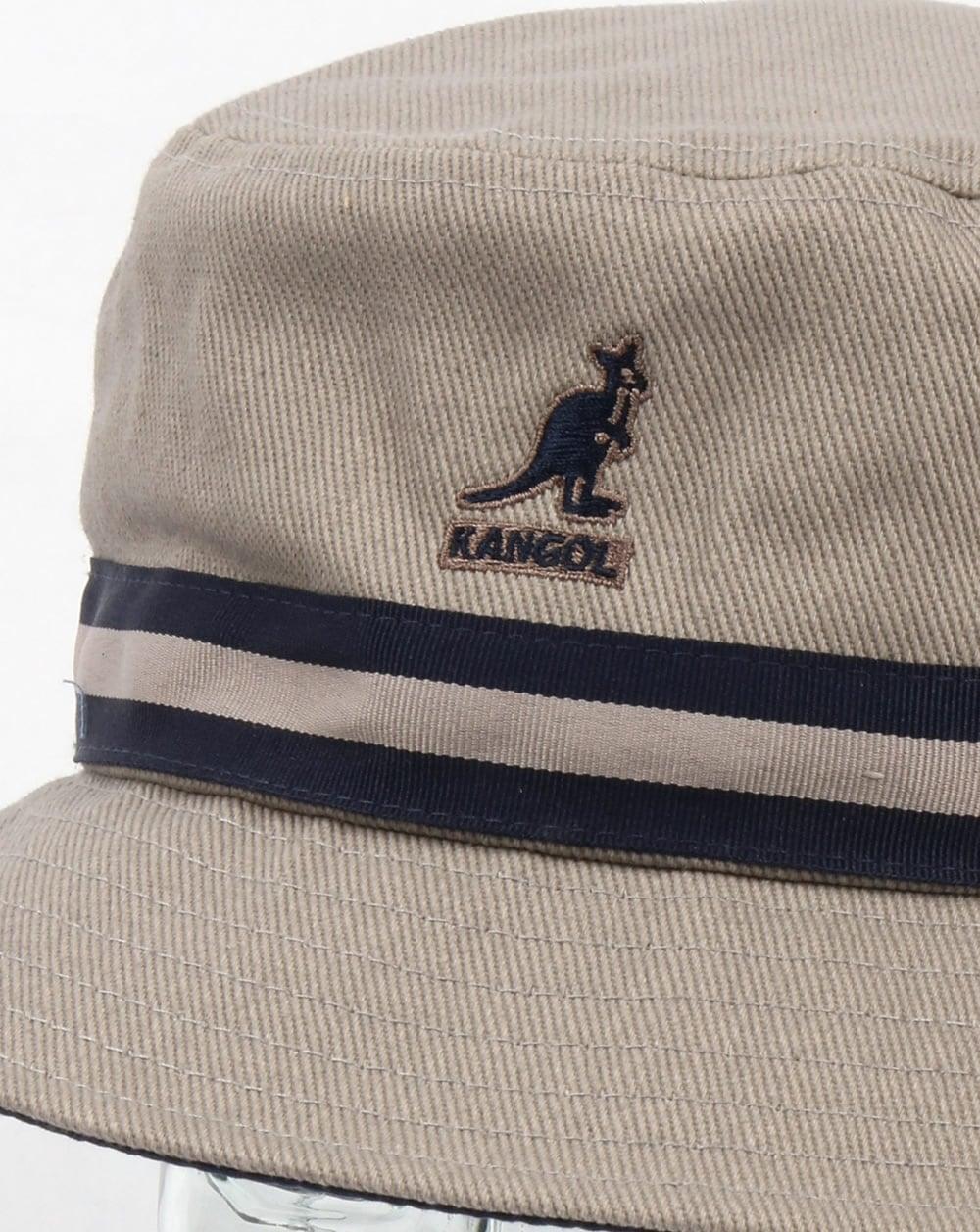 Kangol Stripe Lahinch Bucket Hat Grey ce1f83032a68