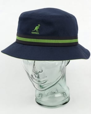 Kangol Stripe Lahinch Bucket Hat Navy