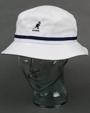 Kangol Stripe Lahinch Bucket Hat White