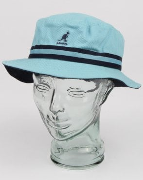 Kangol Stripe Lahinch Hat Light Blue