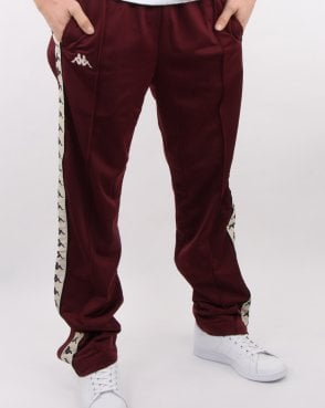 Kappa Authentic Astoria Snap Pant Dark Red