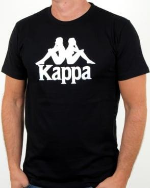 Kappa Estessi T Shirt Black