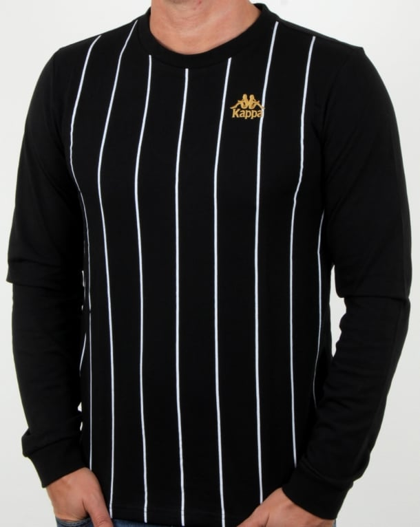 Kappa Solis T Shirt Black/white