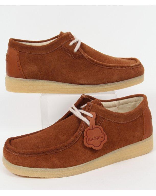 Kickers Dinku Suede Wallabee Shoes Tan - mens kickers ...