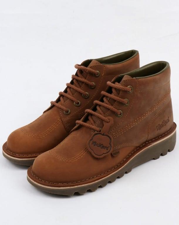 Kickers Kick Hi Boots Brown