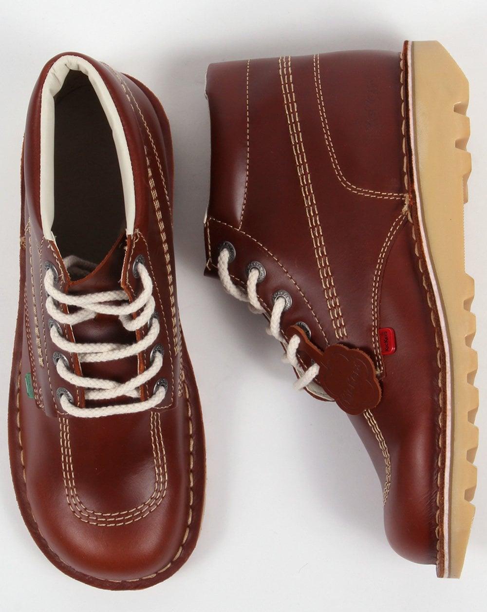 b236fcfe Kickers Kick Hi Boots In Leather Brown Dark Tan   80s casual classics