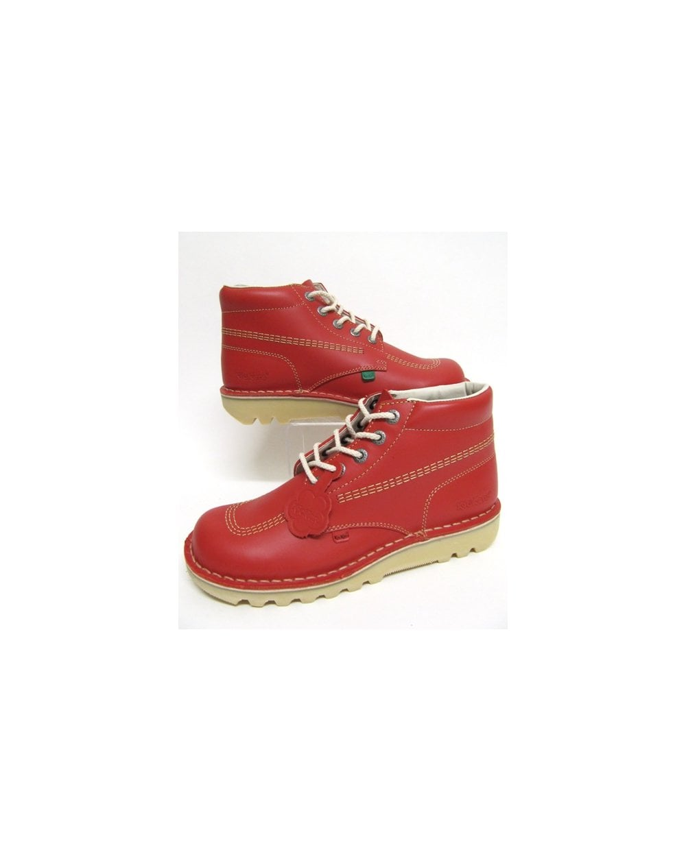 00340094d88 Kickers Kickers Kick Hi Boots In Leather Red