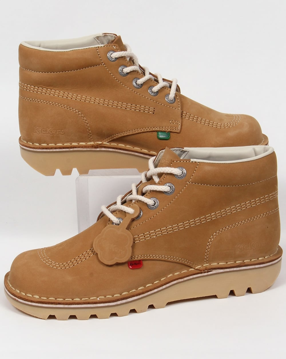 Kickers Kick Hi Boots In Nubuck Tan,shoe,chunky,mens
