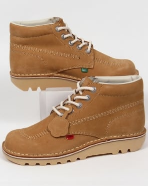 Kickers Kick Hi Boots In Nubuck Tan