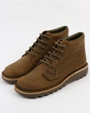 Kickers Kick Hi Boots Khaki