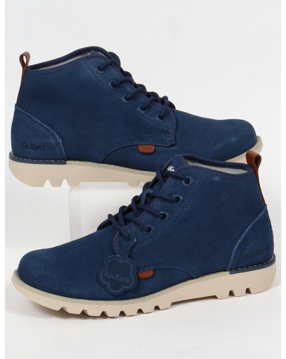 b800b1c685b7 Kickers Kick Hisuma Suede Boots Blue - Footwear from 80s Casual ...