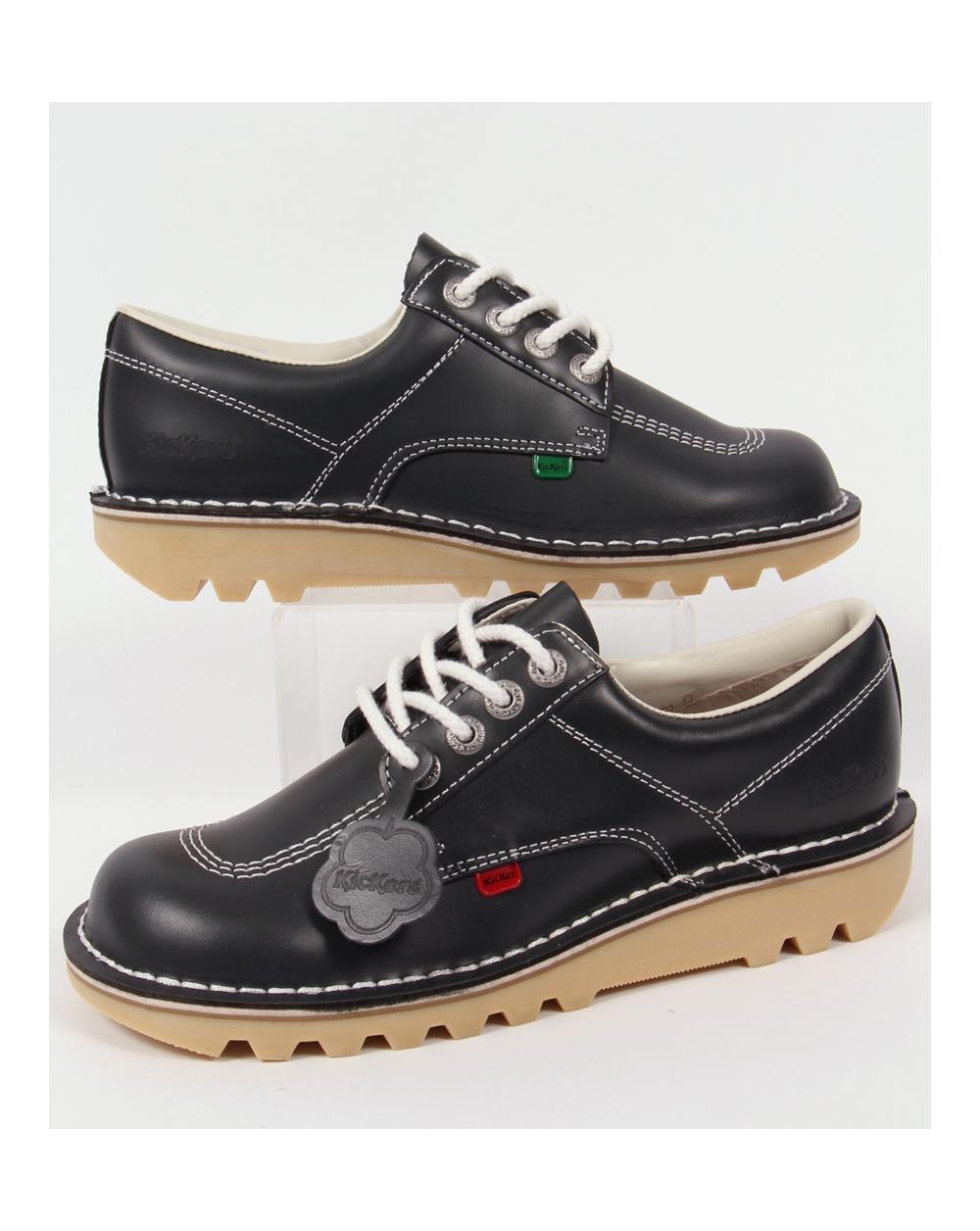 ec02fd5ada Kickers Kick Lo Shoes Navy Blue - kickers kick lo leather, navy blue