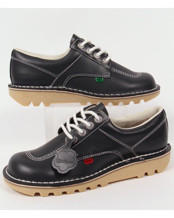 Kickers Kick Lo Shoes Navy Blue - kickers kick lo leather ...