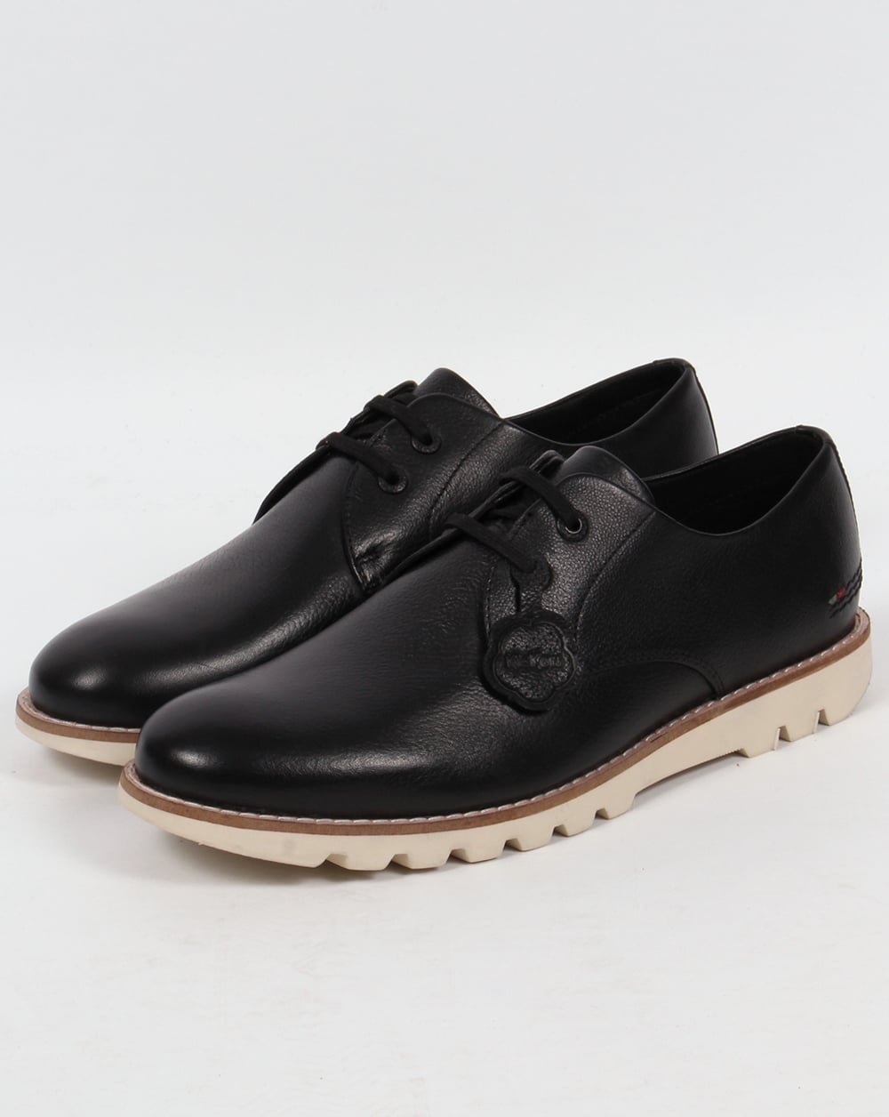 kickers kymbo derby shoes black leather smart formal mens