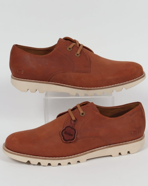 Kickers Kymbo Lace Leather Shoes Tan
