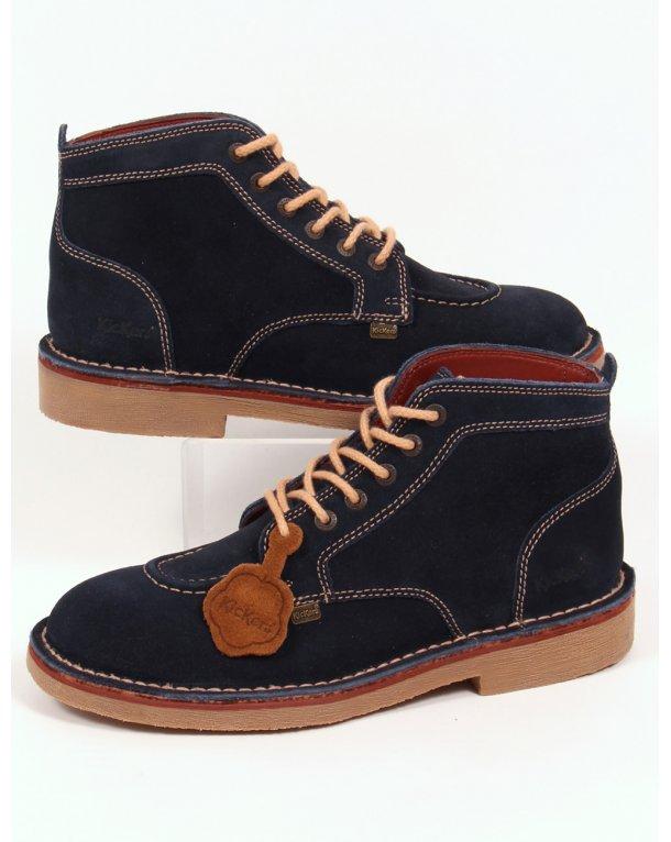 Kickers Legendary Boots In Suede Navy - legendary mens ...