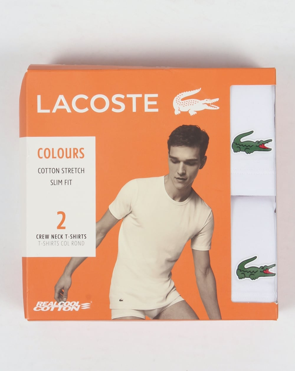 31df77aa26 Lacoste Twin Pack T Shirts, white, loungewear | 80s casual classics