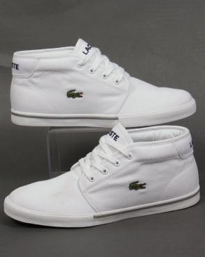 Lacoste Footwear Lacoste Ampthill Canvas Trainers White