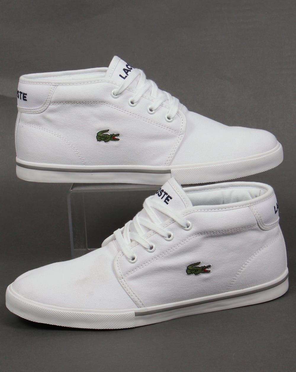 Lacoste Ampthill Canvas Trainers White