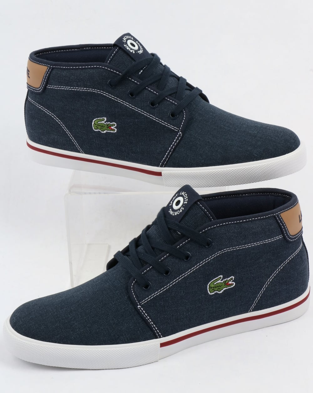 52d6fb597 Lacoste Lacoste Ampthill Chukka Navy Tan