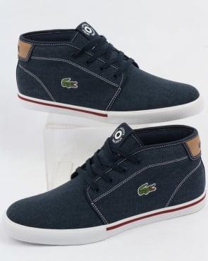 Lacoste Footwear Lacoste Ampthill Chukka Navy/Tan