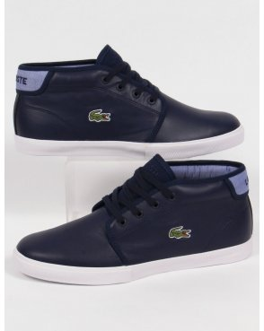 Lacoste Footwear Lacoste Ampthill Leather Trainers Navy Blue
