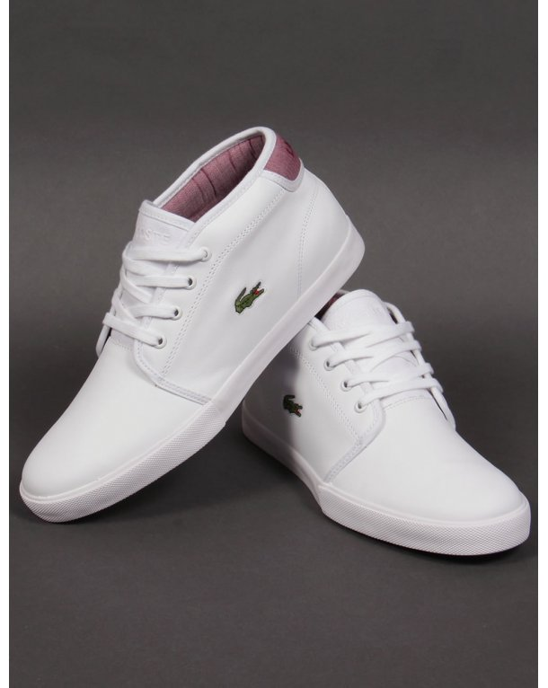 e6bea2adf Lacoste Ampthill Leather Trainers White