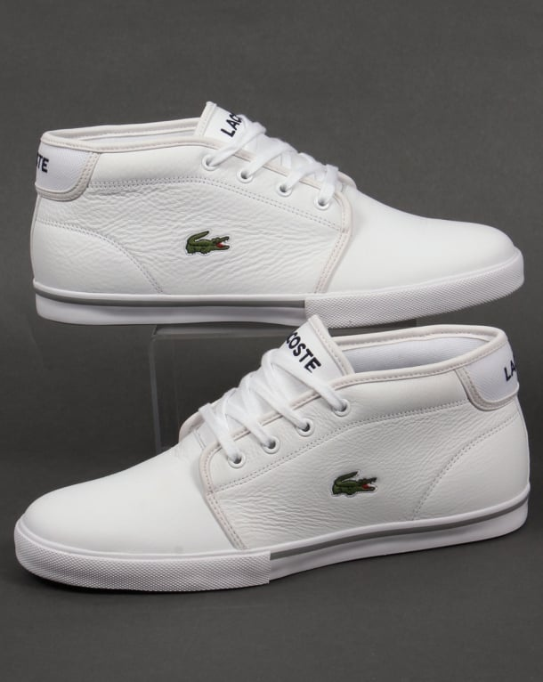Lacoste Ampthill Leather Trainers White/White