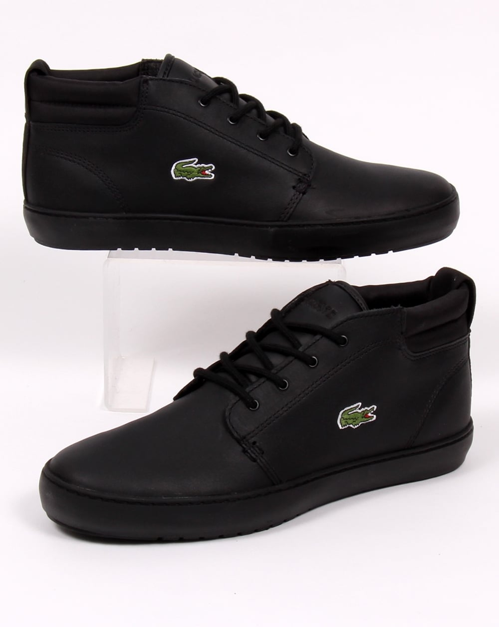 be2c10f75700b Lacoste Lacoste Ampthill Terra Boots Black Leather