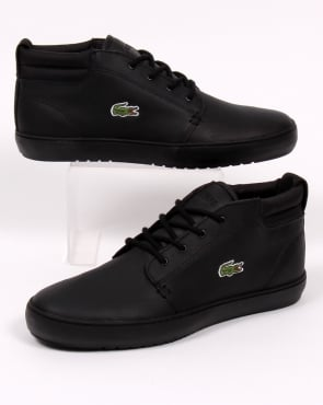 Lacoste Footwear Lacoste Ampthill Terra Boots Black Leather