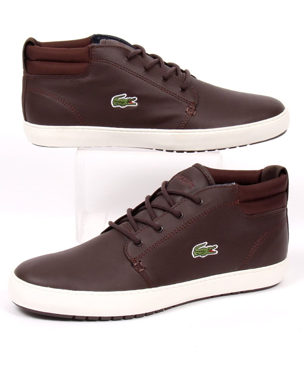 bbf59f598 Lacoste Lacoste Ampthill Terra Boots Brown Leather