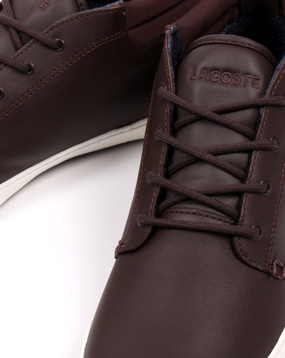 8e1e32709 Lacoste Ampthill Terra Boots Brown Leather