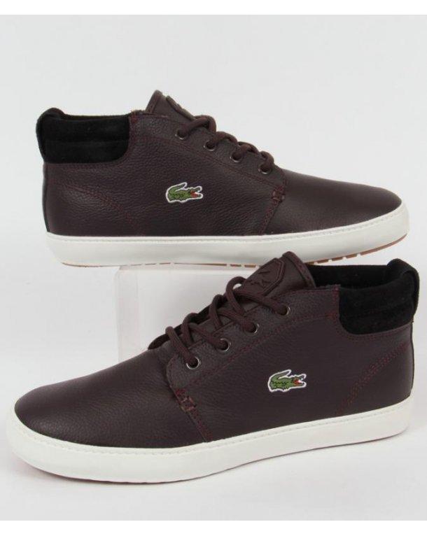 Lacoste Ampthill Terra Chukka Boots Dark Brown