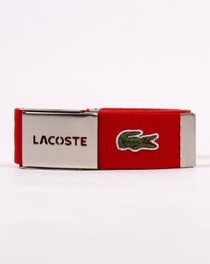 Lacoste Belt Gift Box Red