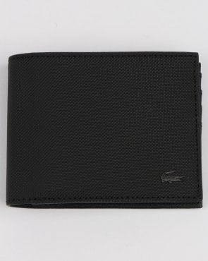 Lacoste Billfold Leather Wallet Black