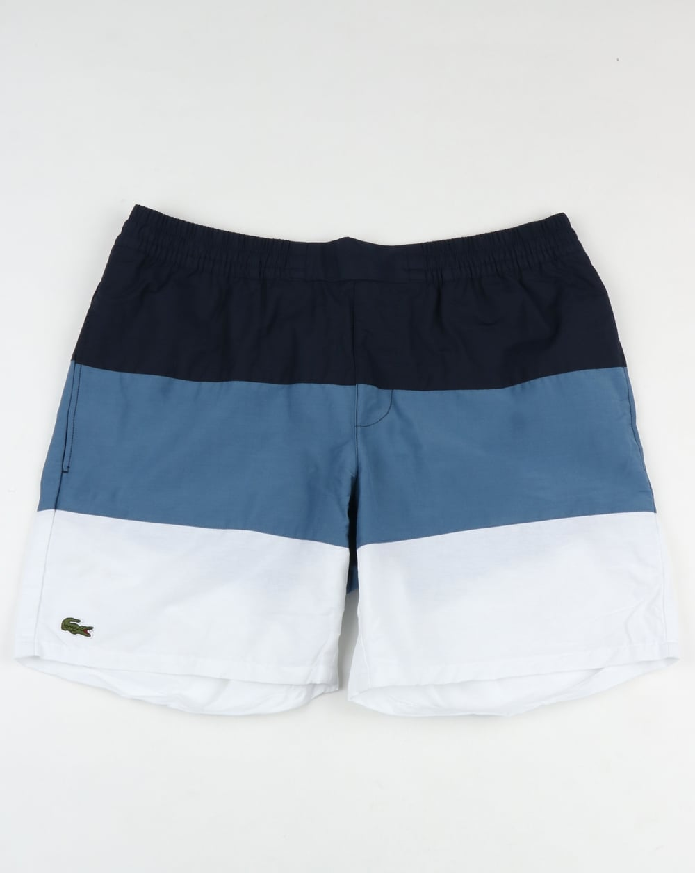 317a61557d Lacoste Block Stripe Swim Shorts Navy/Blue/White,beach,swimmers,mens