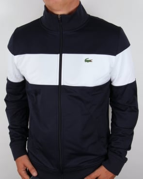 Lacoste Bold Stripe Track Top Navy/White