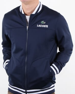 Lacoste Bomber Poly Track Top Navy/white