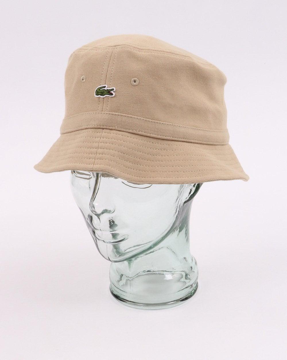 0df44816a6e570 Lacoste Bucket Hat in Beige | 80s Casual Classics