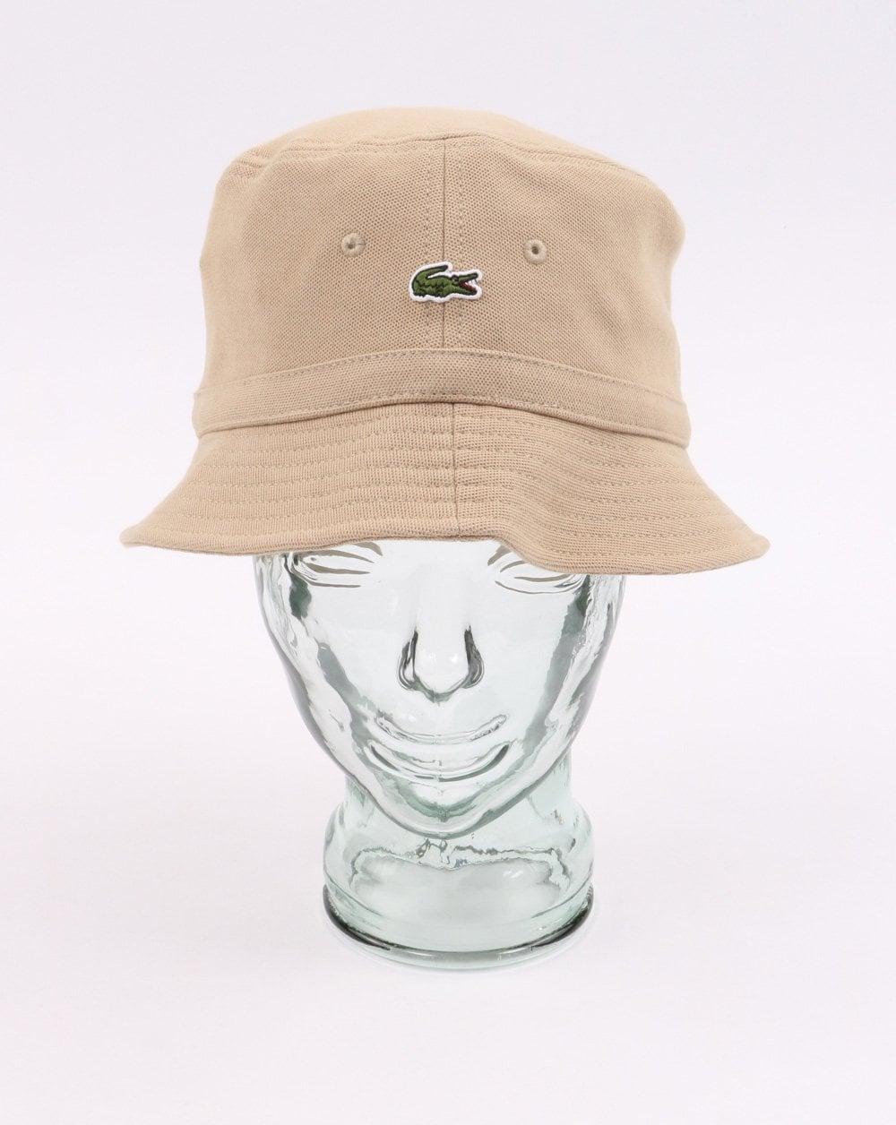 90cc57b0d16cfb Lacoste Bucket Hat in Beige   80s Casual Classics