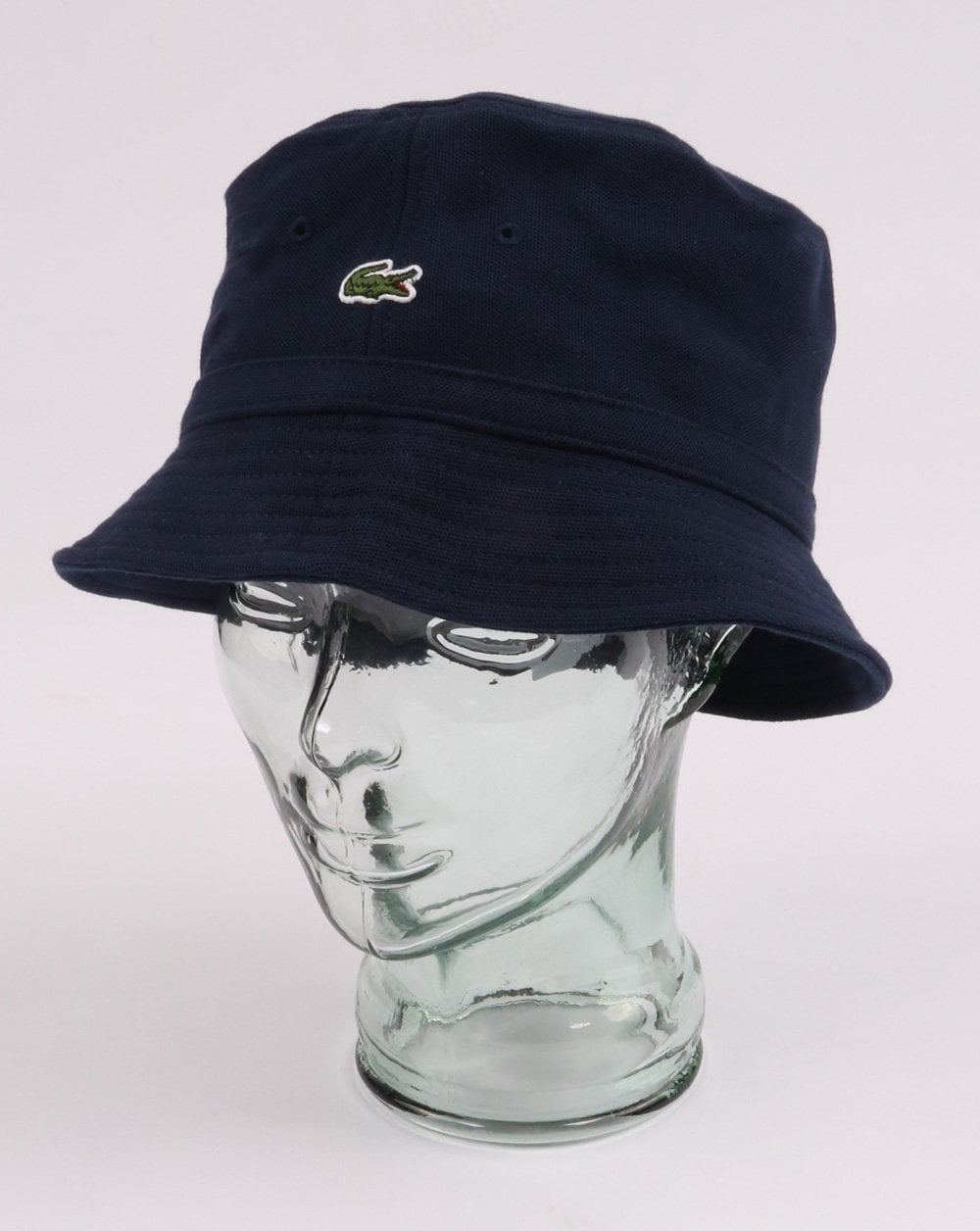 e673709cda30dc Lacoste Bucket Hat in Navy | 80s Casual Classics